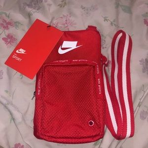Red Nike crossbody bag